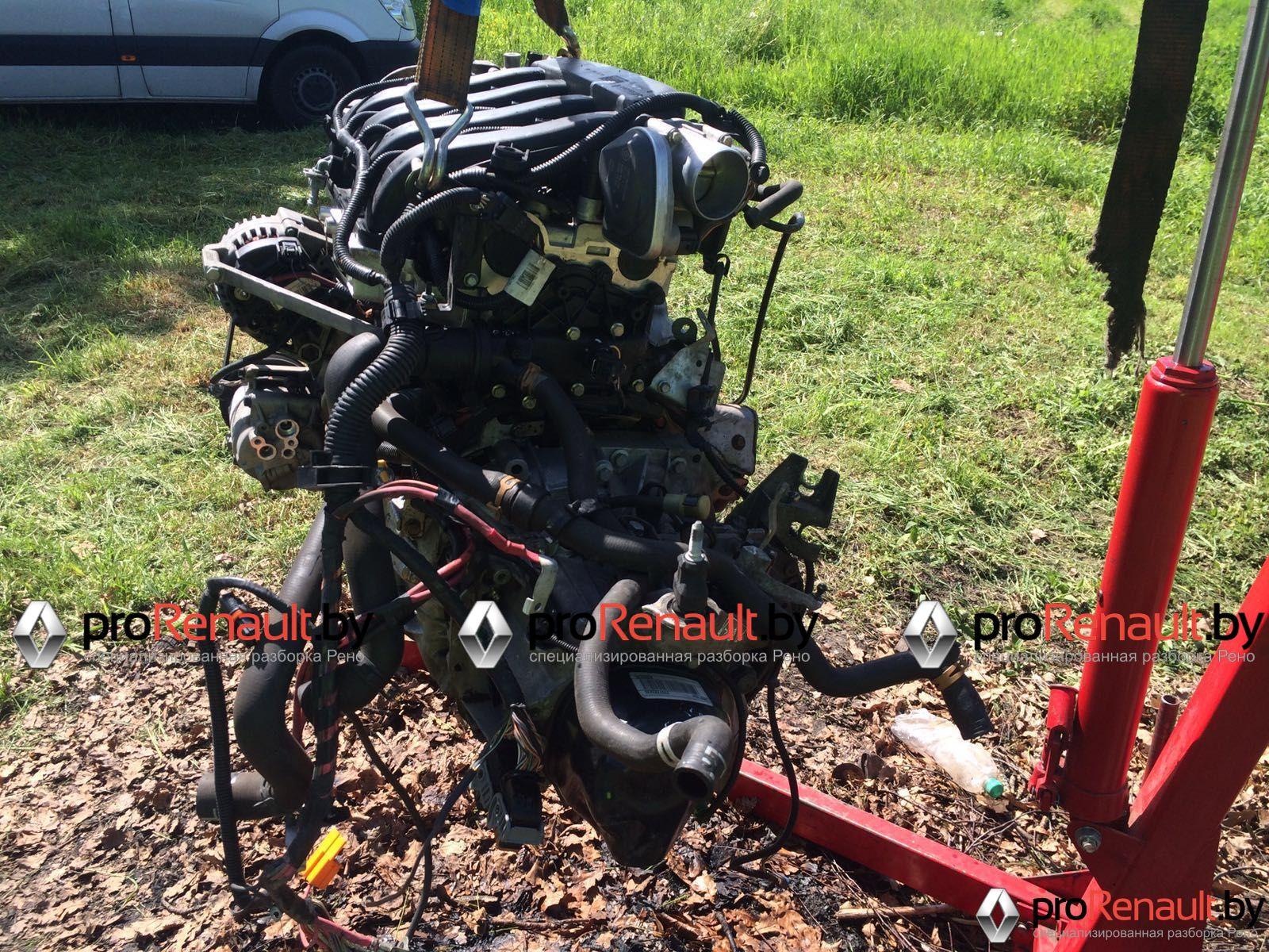 Двигатель Рено K4M 1.6 бензин c фазорегулятором